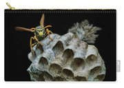 Head-on - Paper Wasp - Nest Carry-all Pouch
