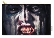 Head Shot On A Pure Evil Zombie Girl Carry-all Pouch