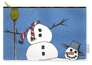 Headless Snowman Carry-all Pouch