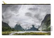 Heads In The Clouds Panorama At Milford Sound Carry-all Pouch