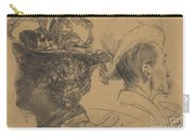 Heads Of A Man And A Woman Carry-all Pouch