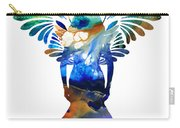 Healing Angel - Spiritual Art Painting Carry-all Pouch by Sharon Cummings