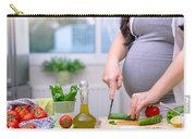 Healthy Nutrition For Pregnant Woman Carry-all Pouch