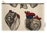 Heart, Anatomical Illustration, 1822 Carry-all Pouch