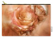 Heart Of A Rose - Gold Bronze Carry-all Pouch