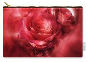 Heart Of A Rose - Red Carry-all Pouch