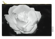 Heart Petal White Rose Carry-all Pouch