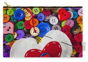 Heart Pushpin Chusion  Carry-all Pouch