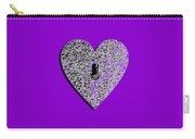 Heart Shaped Lock Purple .png Carry-all Pouch