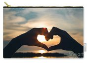 Heart Shaped Sunset Carry-all Pouch