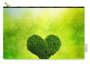 Heart Shaped Tree Growing On Green Grass Carry-all Pouch