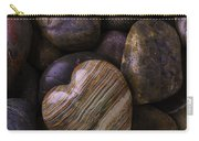 Heart Stone On River Rocks Carry-all Pouch