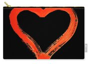 Heart - Symbol Of Love - Watercolor Painting Carry-all Pouch