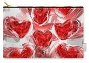 Hearts Afire Abstract Carry-all Pouch