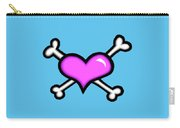 Heart And Bones Carry-all Pouch