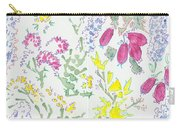 Heather And Gorse Watercolor Illustration Pattern Carry-all Pouch
