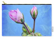 Nature Botanical Floral Pink Flowers Geranium Blooms  Carry-all Pouch