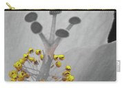 Heavenly Hibiscus Bw Yellow 12 Carry-all Pouch