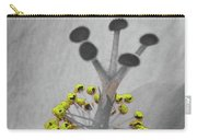Heavenly Hibiscus Bw Yellow 13 Carry-all Pouch