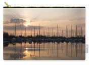 Heavenly Sunrays - Peaches-and-cream Sunrise With Boats Carry-all Pouch