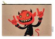 Heavy Metal Devil Carry-all Pouch by John Schwegel