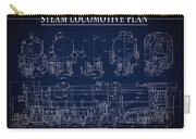 Heavy Steam Locomotive Blueprint Carry-all Pouch