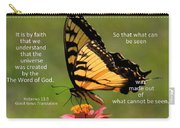 Hebrews Scripture Butterfly Carry-all Pouch