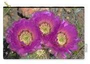 Hedgehog Cactus Triplets Carry-all Pouch