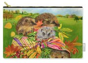 Hedgehogs Inside Scarf Carry-all Pouch