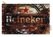 Heineken Beer Wood Sign 1j Carry-all Pouch