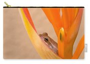 Heliconia And Frog Carry-all Pouch