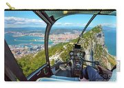 Helicopter On Gibraltar Rock Carry-all Pouch