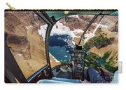 Helicopter On Glacier National Park Carry-all Pouch