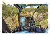 Helicopter On Tasman Arch Carry-all Pouch