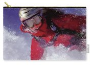 Hell Bent For Powder Carry-all Pouch by Colleen Taylor