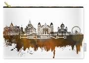 Helsinki Skyline City Brown Carry-all Pouch