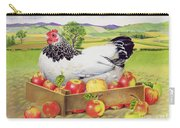 Hen In A Box Of Apples Carry-all Pouch by EB Watts