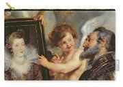 Henri Iv Receiving The Portrait Of Marie De Medici Carry-all Pouch by Rubens
