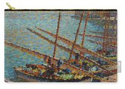 Henri Martin 1860 - 1943 Boats To Collioure Carry-all Pouch