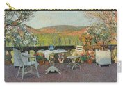 Henri Martin 1860 - 1943 Tea Time On The Terrace Marquayrol Carry-all Pouch