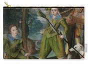 Henry Frederick 15941612 Prince Of Wales With Sir John Harington 15921614 In The Hunting Field Carry-all Pouch