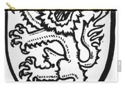 Heraldry: Lion Carry-all Pouch