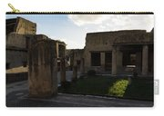 Herculaneum Ruins - Mosaic Tile Streets And Sun Splashes Carry-all Pouch