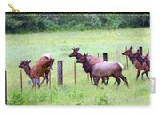 Herd Of Elk Leaping - Western Oregon Carry-all Pouch
