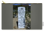 Here Lies George Johnson - Old Tucson Arizona Carry-all Pouch