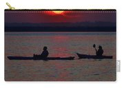 Heron And Kayakers Sunset Carry-all Pouch