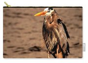 Egret Bad Feather Day Carry-all Pouch