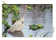 Heron Fishing In The Everglades Carry-all Pouch