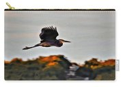 Heron Flying Away Carry-all Pouch