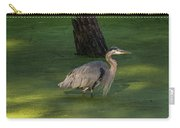 Heron In Dark Pond Carry-all Pouch
